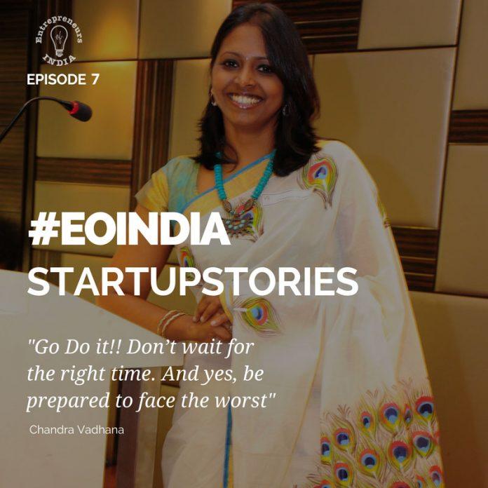 most successful women enterprenur Chandra Vidhana.eoindia.in