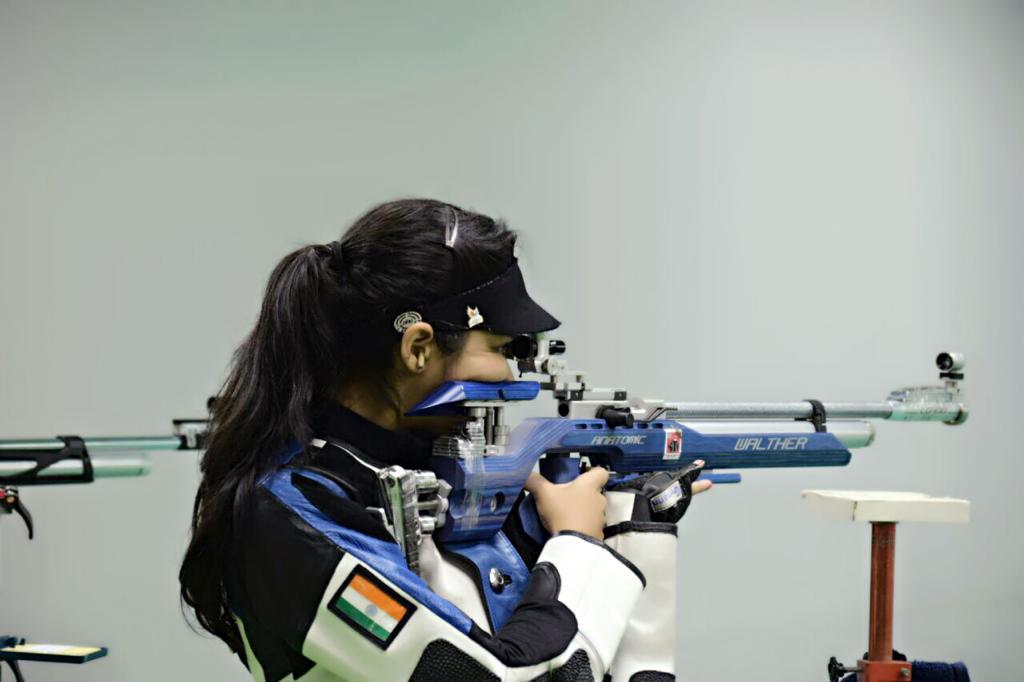 Priyal at a shooting tournament.